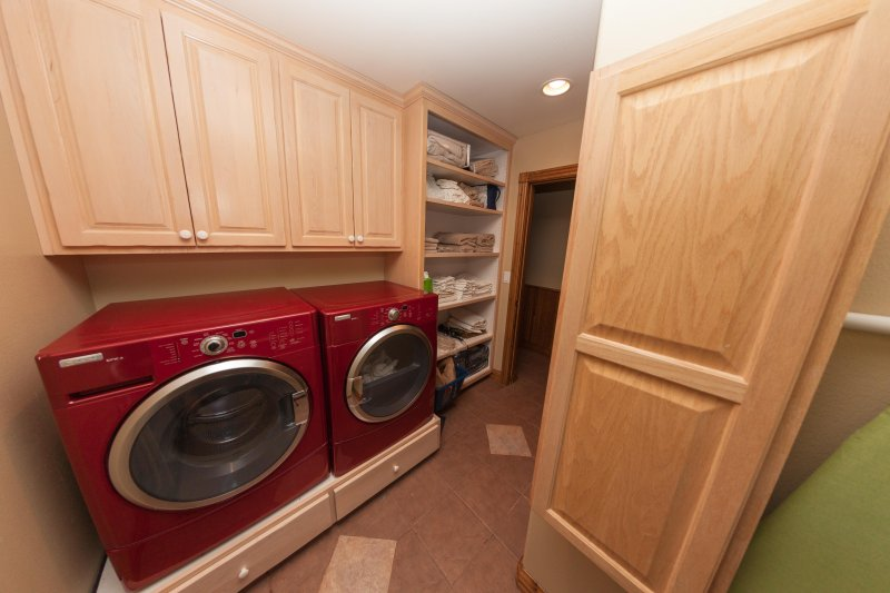 Laundry room in main lodge.