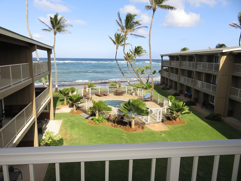 Kauai Oceanfront 3 Bedroom Condo Vacation Rental By Owner - LOADED Full Kitchen, vacation rental in Kapaa