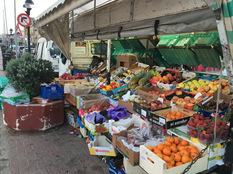 Local Vegetable and fruit seller ,just down the road from the apartment.