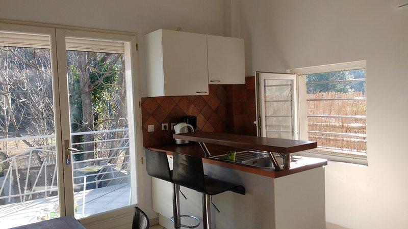 Joli F2 Duplex avec jardin, location de vacances à Lamalou-les-Bains