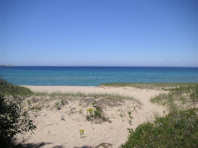Vista verso il lago Michigan