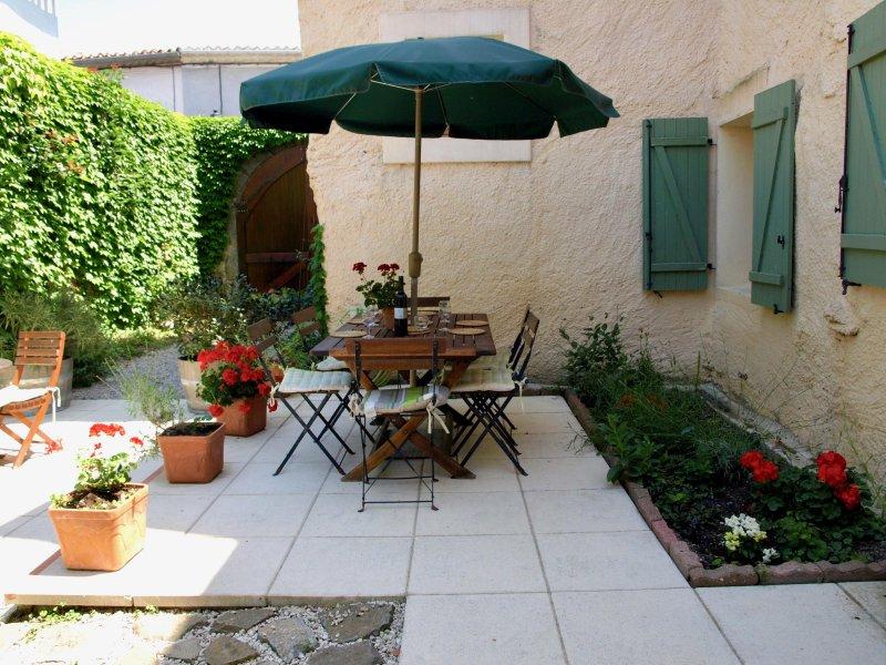 Sunny terrcaed garden