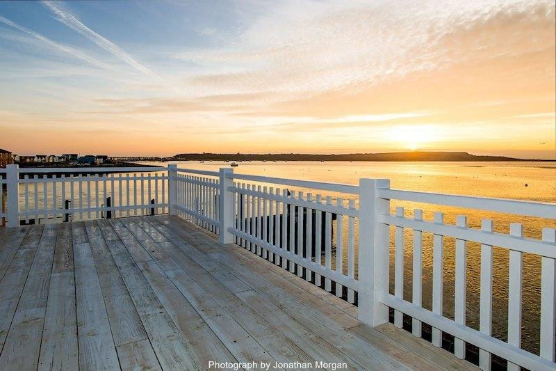 A fantastic Mudeford sunset from the balcony decking