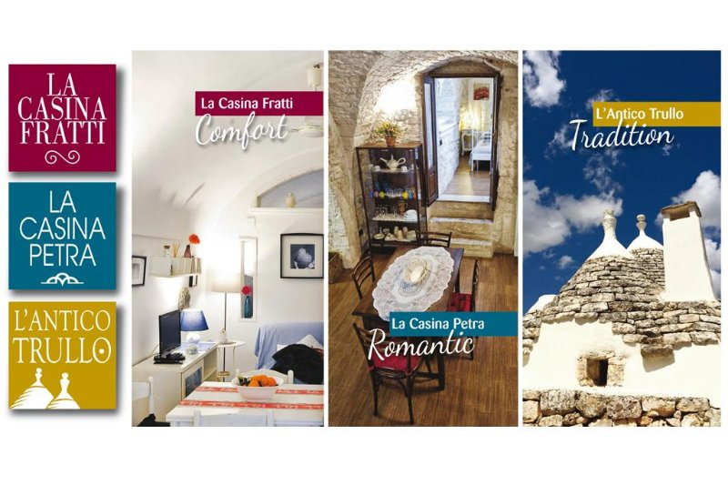 Our three offers: Fratti Casina - Casina Petra - The Old Trullo