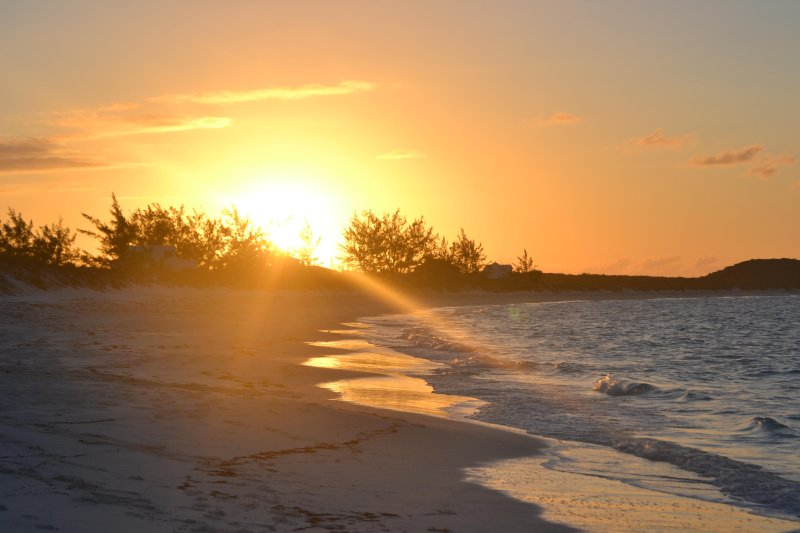 Spectacular sunsets on Tropic of Cancer beach.