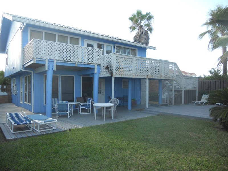 The Blue Beach House On 2  separate levels, great GULF views, secluded yard and private beach path