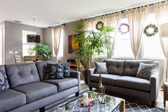 Welcome to The Parisian at the Hamptons. Clean, modern, and relaxing living room for your use.