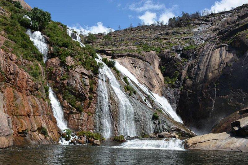 Mirador de Ezaro vattenfall. 3 minuter med bil