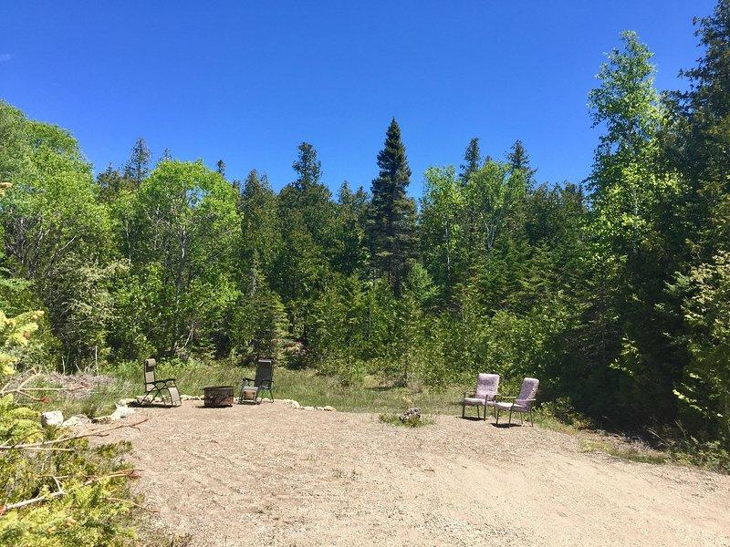 Huge private backyard!