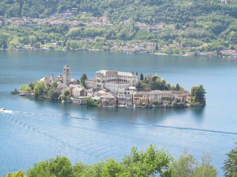 the island of San Giulio on Lake Orta