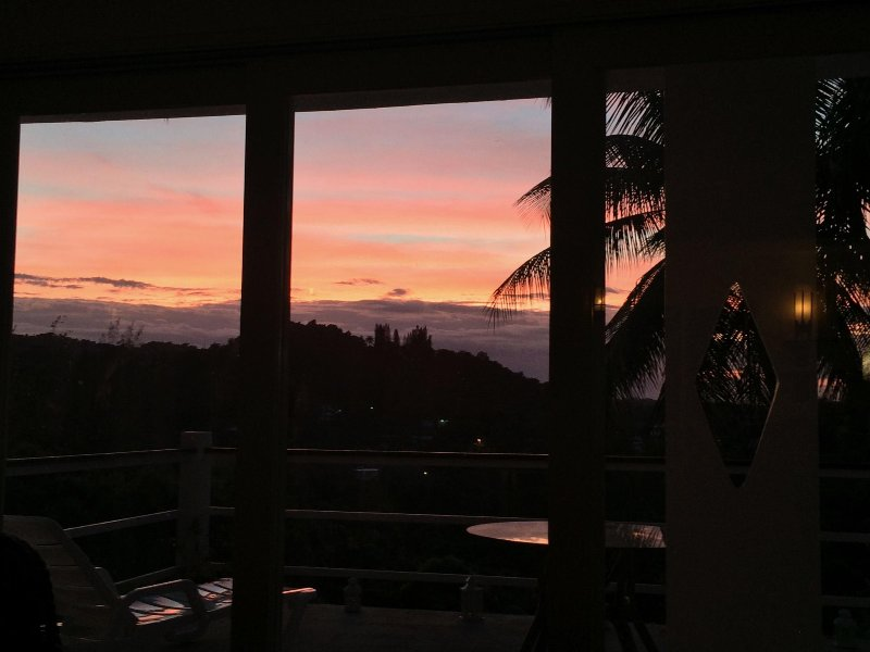 Sunsets enjoyed each evening from our living room or terrace!