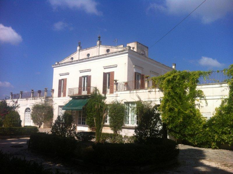 The facade of the Villa dei Marchesi Joy in Corato