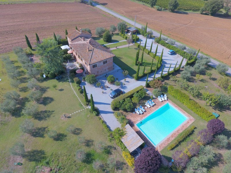 An aerial view of La Lombarda