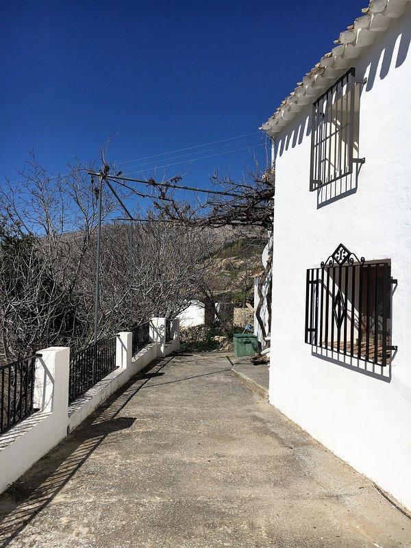 O terraço da frente, no inverno