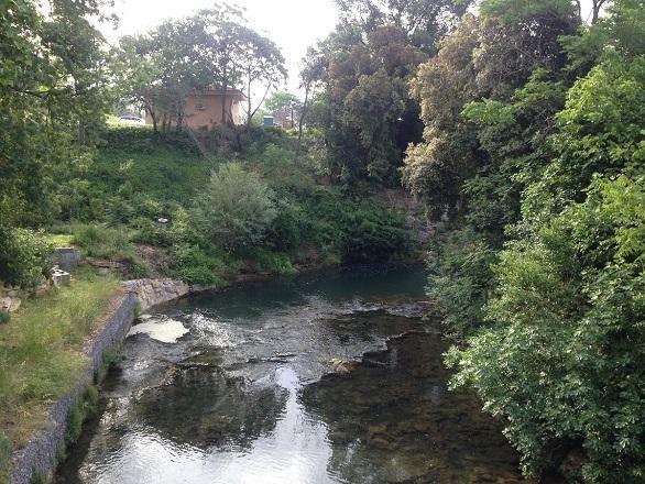 Pretty river running through La Motte village