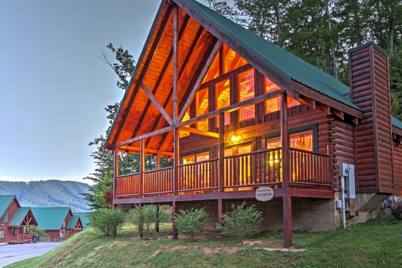 Book your Great Smoky Mountain retreat to this A-frame cabin!