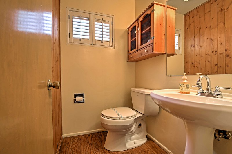 This home is outfitted with all the necessary comforts of home.