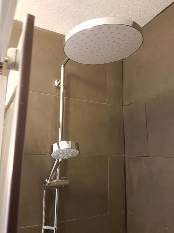Bathroom one - first floor. Rain shower.
