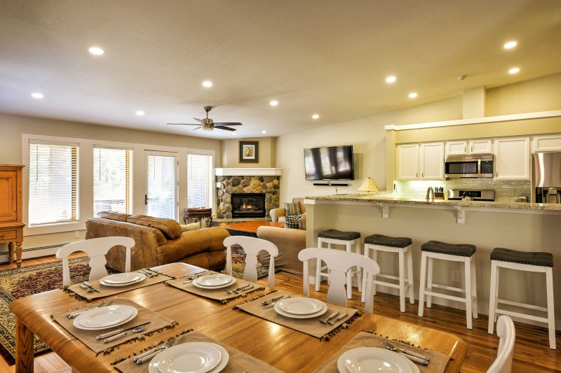 An open-concept layout makes it easy for everyone to spend time together.