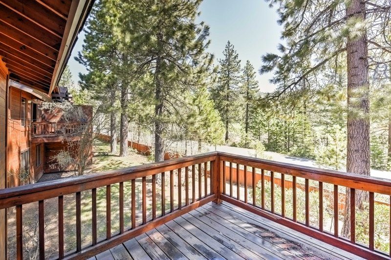 Fire up the gas grill and admire the tranquil views off the balcony.