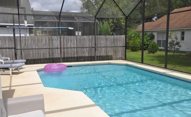 Pool, Water, Yard, Building