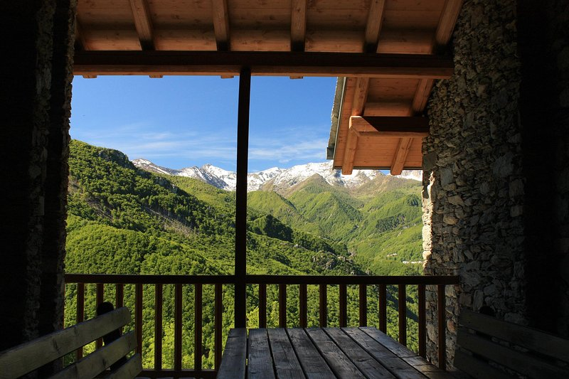 Valley View Corsaglia porche exclusiva de Chalet Bossou