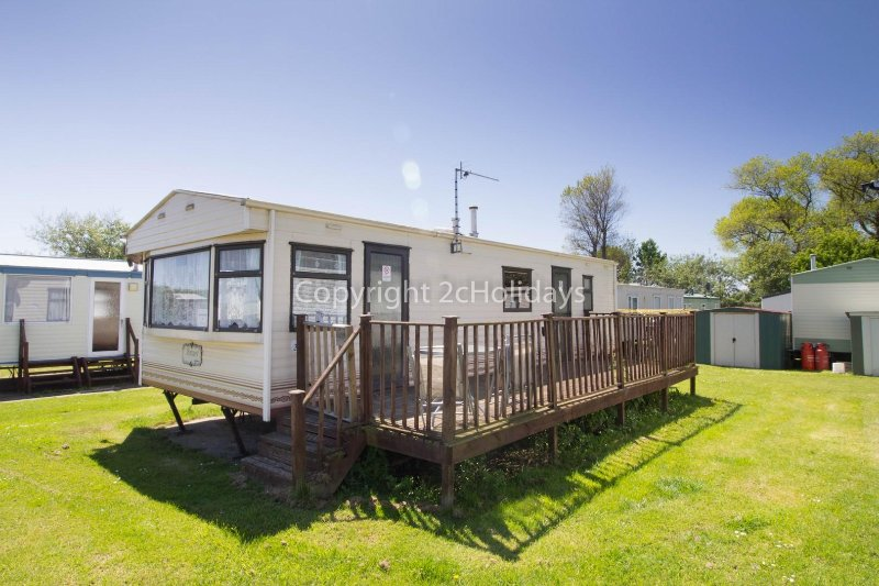 6 berth caravan for hire at Broadland Sands Holiday Park. Topaz rated.