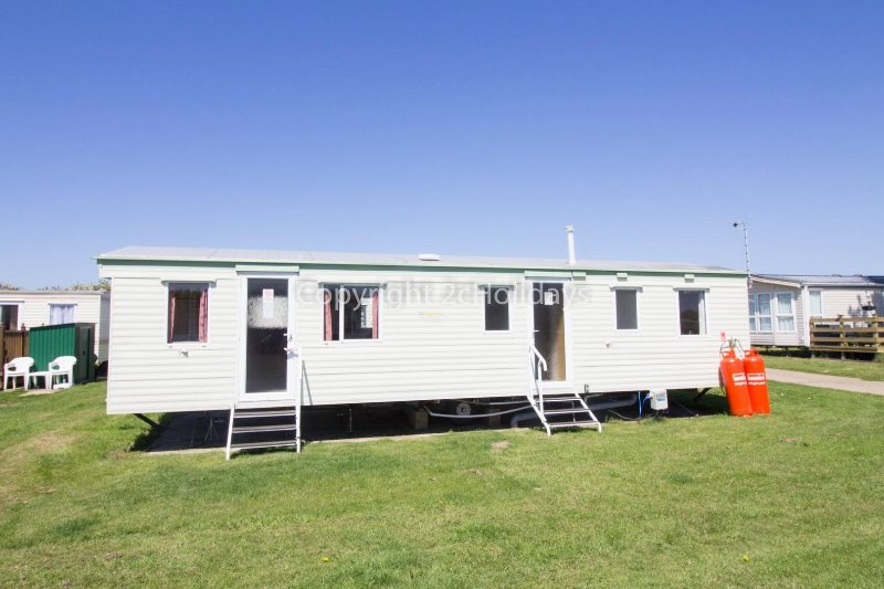 9 berth caravan for hire at Broadland Sands Holiday Park. Emerald rated.