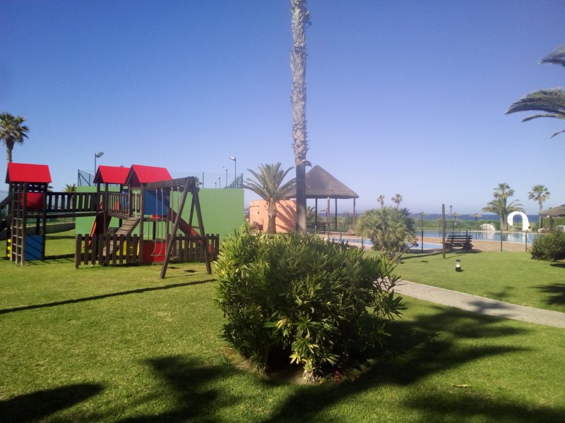 playground and paddle at the bottom