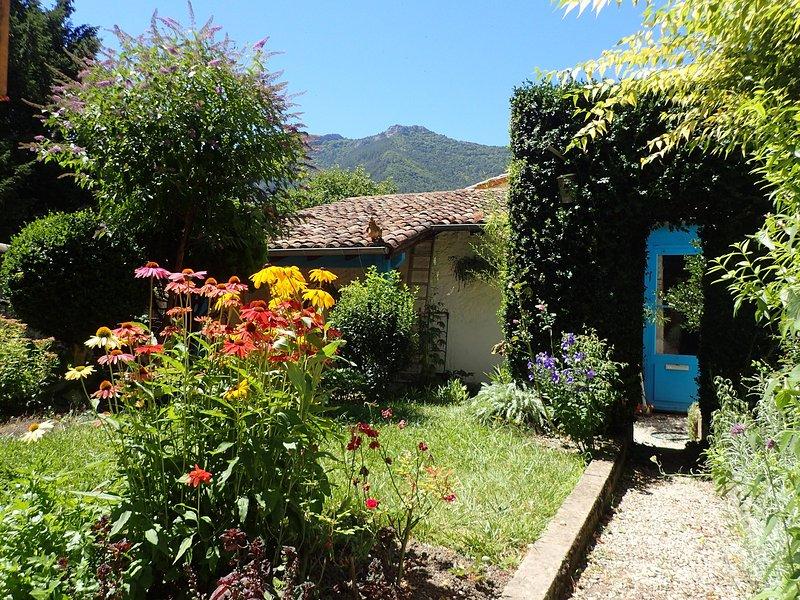 Garden with mountain views