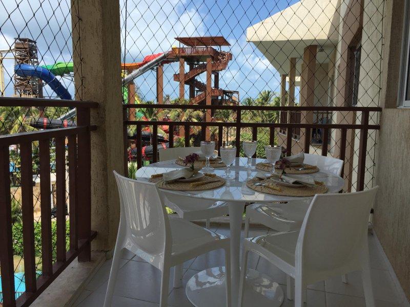 Balkon met uitzicht op de Beach Park
