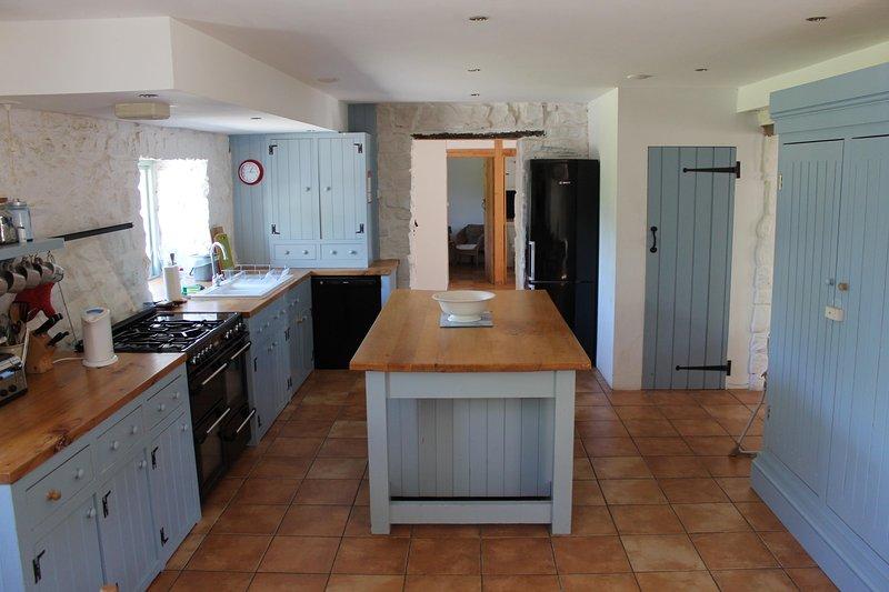 beautiful hand built kitchen