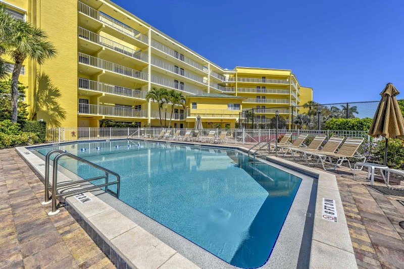 Spend hours lounging poolside when you stay at this Marco Island vacation rental condo!