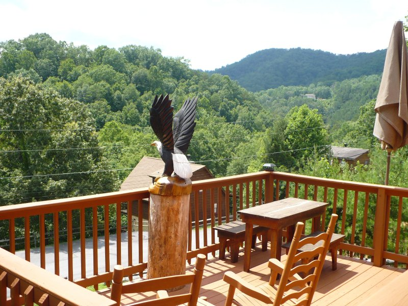 Beautiful Views of the Foothills of the Smoky Mountains from this deck