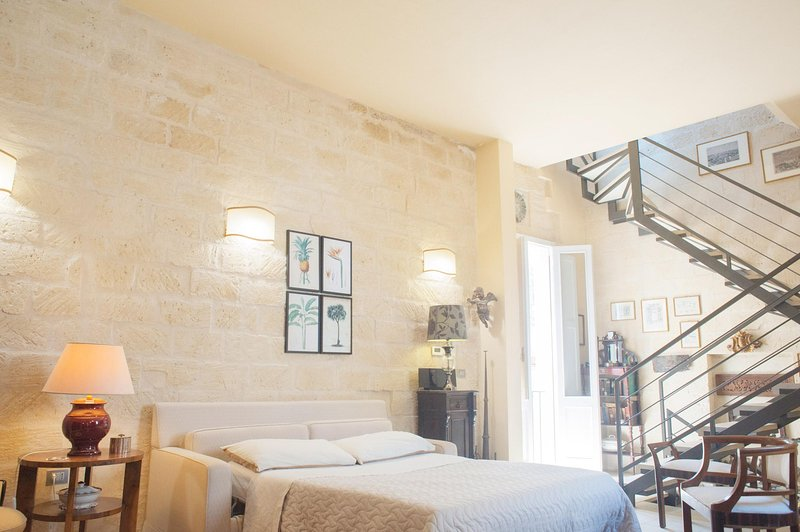 The Bedroom with the wall made in the typical lecce stone.