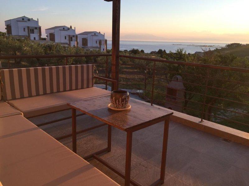Deluxe Suite With Sea View, location de vacances à Kalyves Polygyrou