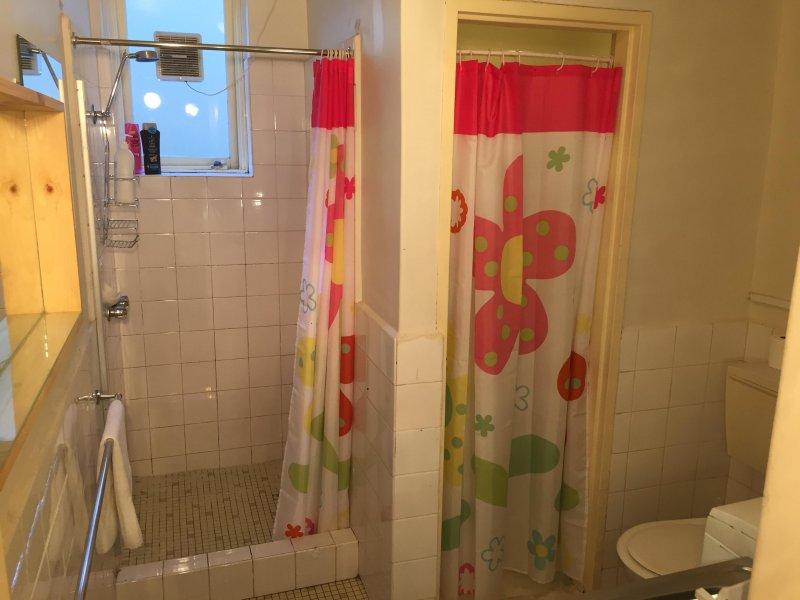 1. No baño ultramoderno, pero que va a salir absolutamente limpio y brillante