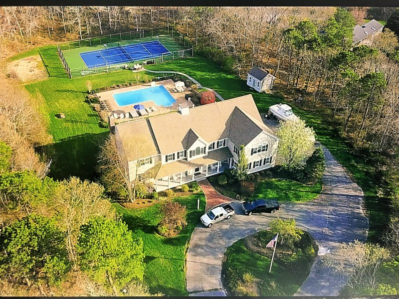 Overview Drone photo of our home