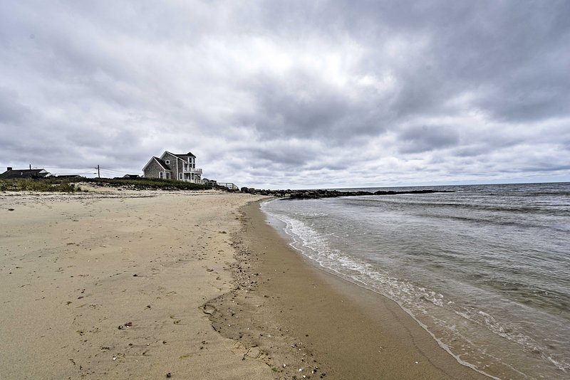 This cozy condo is just steps away from a private beach on the Nantucket Sound.