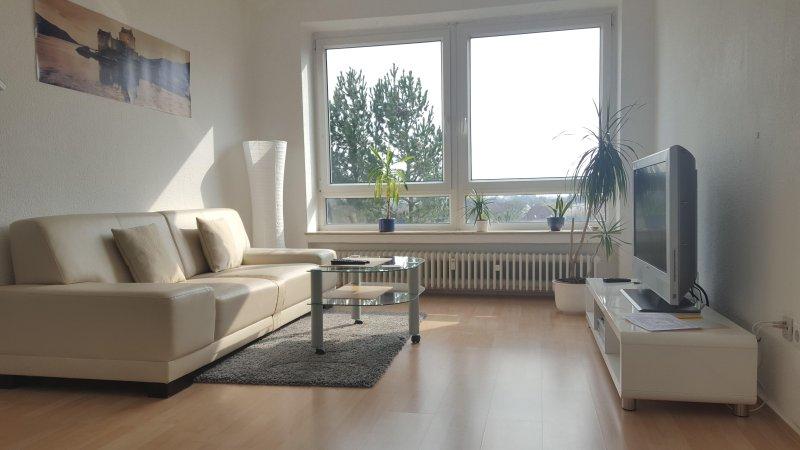 sala de estar com televisão por satélite e Wi-Fi