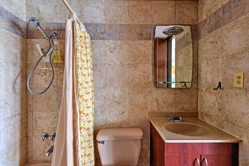 Das Studio verfügt über 1 Badezimmer für die Gäste zu bedienen.