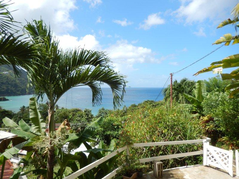 Vista de Castara bahía principal de los estudios
