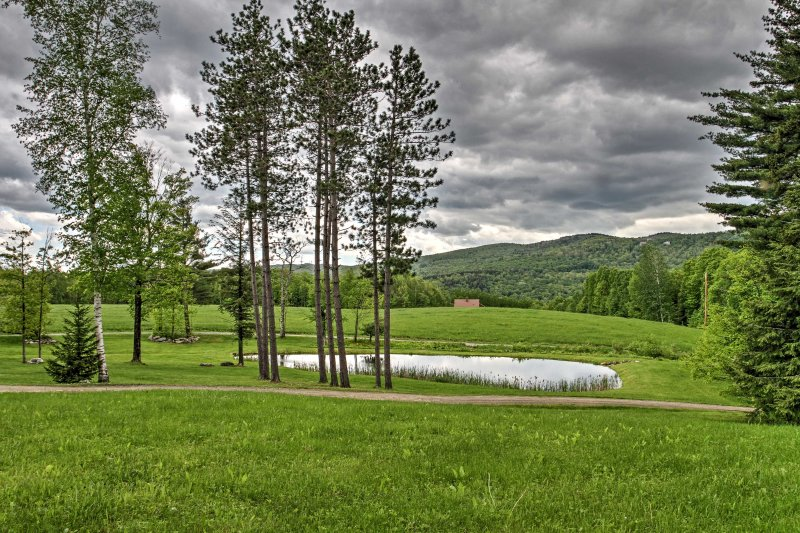 Lush greenery surrounds the property making for gorgeous views.
