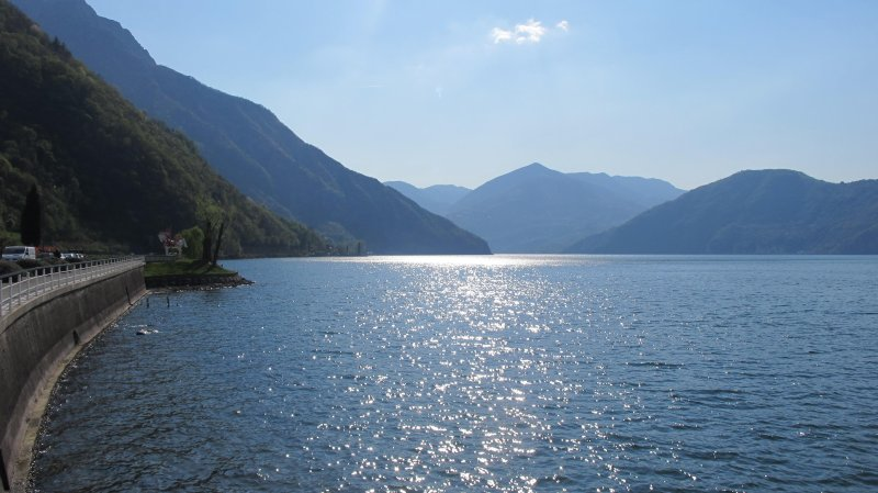 Lake sebino seen from Pisogne