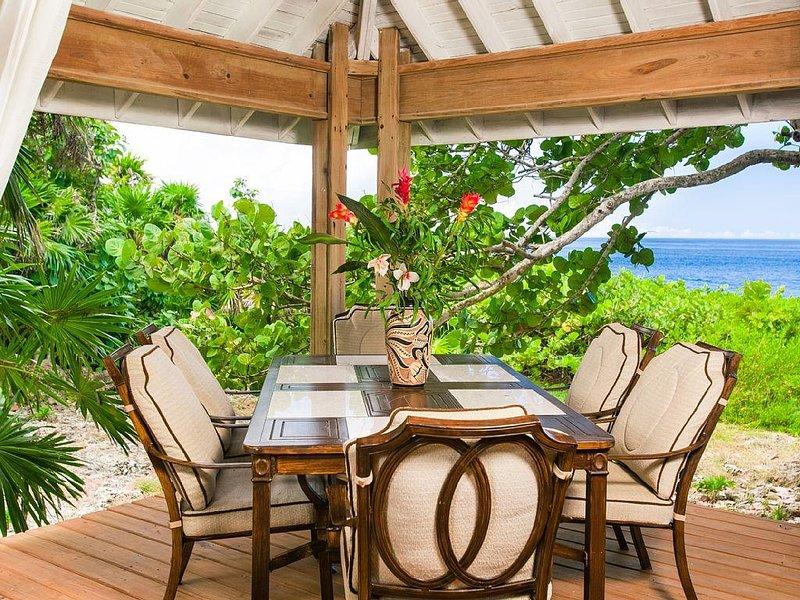 Open air gazebo dining room