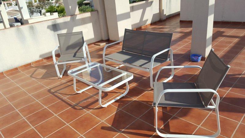 mobili da terrazza sul tetto