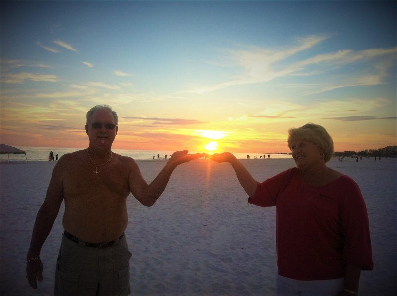 Marilee & John catching a sunset!