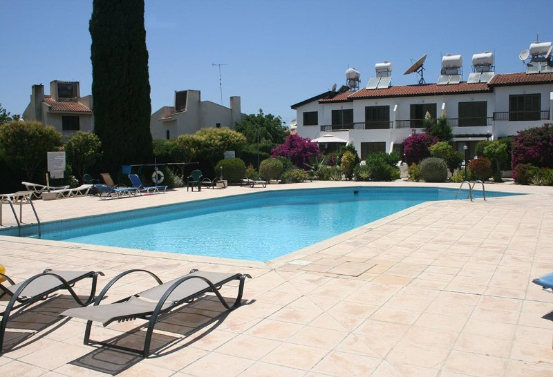 The pool is open all year! It is accesible only by residents and sun beds are free!