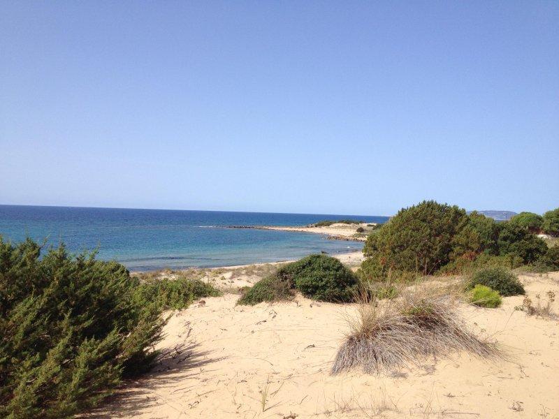 Dentro de los 5 minutos. caminando se llega a las hermosas dunas y la hermosa playa de arena.