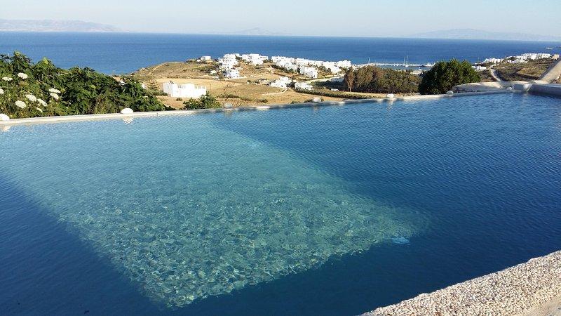 Villa Armonia Vue splendide sur la mer Egée, vacation rental in Lefkes